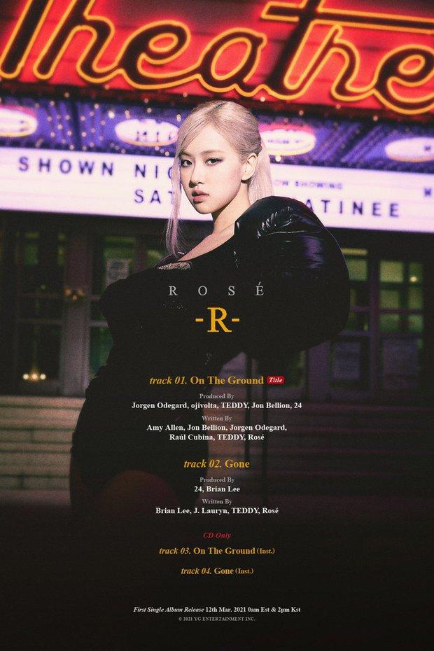 Rosé (BLACKPINK) công bố tracklist, tham gia sáng tác toàn bộ album solo nhưng số lượng bài lại gây hụt hẫng - Ảnh 1.