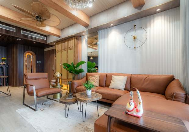 KTS mạnh tay chơi 4 phong cách cho căn hộ Vinhomes: Indochine kết hợp Wabi Sabi, thêm chút resort và có cả Art Deco - Ảnh 4.