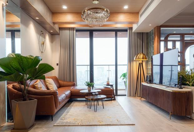 KTS mạnh tay chơi 4 phong cách cho căn hộ Vinhomes: Indochine kết hợp Wabi Sabi, thêm chút resort và có cả Art Deco - Ảnh 3.