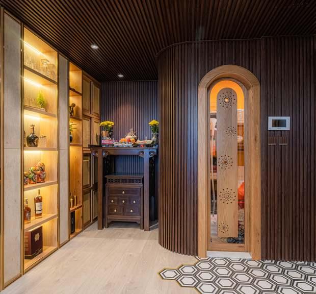 KTS mạnh tay chơi 4 phong cách cho căn hộ Vinhomes: Indochine kết hợp Wabi Sabi, thêm chút resort và có cả Art Deco - Ảnh 6.
