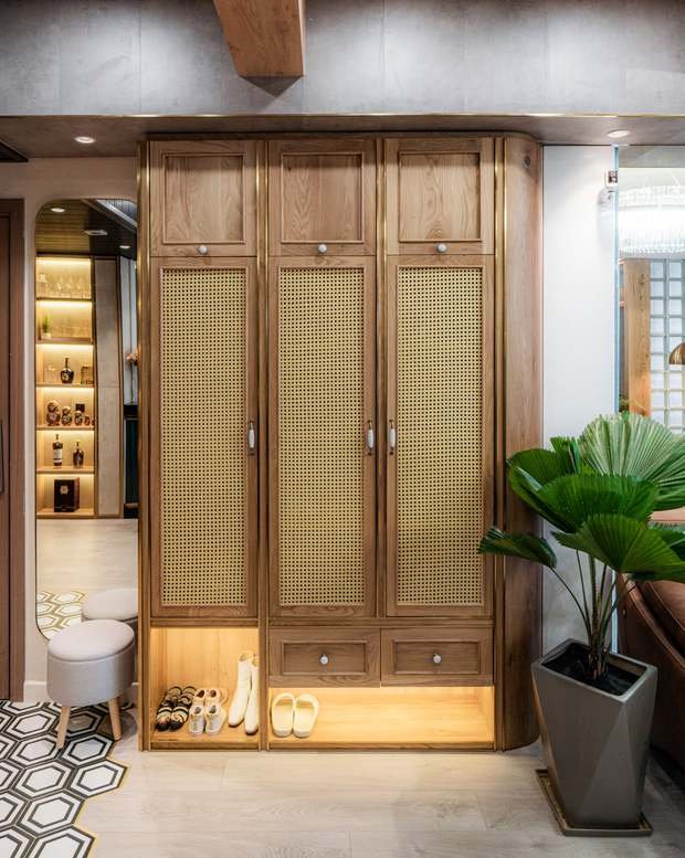 KTS mạnh tay chơi 4 phong cách cho căn hộ Vinhomes: Indochine kết hợp Wabi Sabi, thêm chút resort và có cả Art Deco - Ảnh 5.