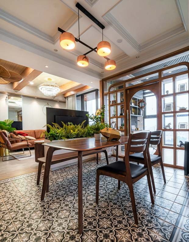 KTS mạnh tay chơi 4 phong cách cho căn hộ Vinhomes: Indochine kết hợp Wabi Sabi, thêm chút resort và có cả Art Deco - Ảnh 8.