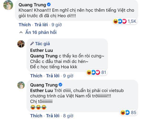 Hari Won băn khoăn chuyện học tiếng Trung liền bị Quang Trung cà khịa nên học thêm tiếng Việt, phản ứng chính chủ thế nào? - Ảnh 3.