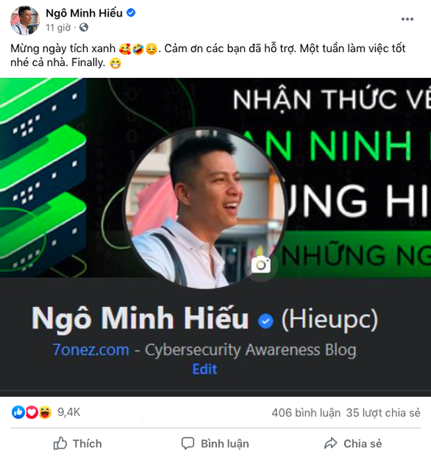 Hieupc vừa khoe Facebook có tick xanh đã bị cộng đồng ùa vào troll chuyện cũ - Ảnh 1.