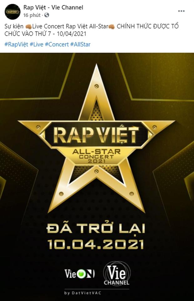 HOT: Rap Việt All-Star Concert chính thức trở lại, ngày và giờ đã được ấn định! - Ảnh 1.