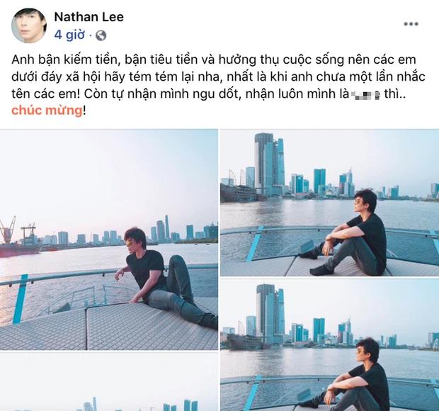 """Chưa hết drama: Ngọc Trinh vừa mỉa mai đáp trả, Nathan Lee lại đăng status nhắc khéo ai đó dưới đáy xã hội"""" cực thâm thuý - Ảnh 2."""