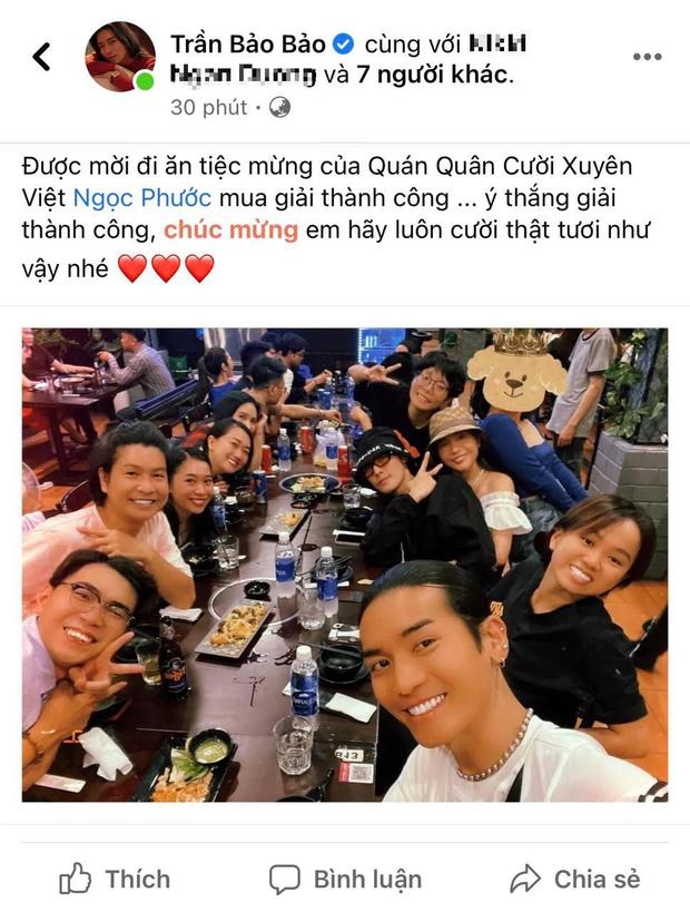 BB Trần khoe hình đi ăn tiệc mừng giải Quán quân của Ngọc Phước nhưng lại không thấy nhân vật chính? - Ảnh 1.