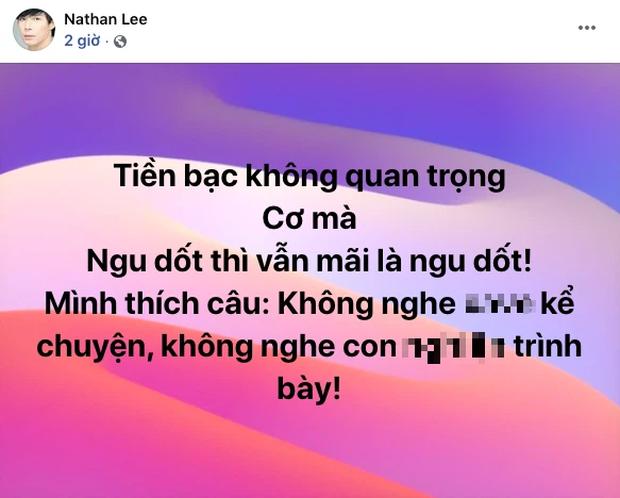 """Chưa hết drama: Ngọc Trinh vừa mỉa mai đáp trả, Nathan Lee lại đăng status nhắc khéo ai đó dưới đáy xã hội"""" cực thâm thuý - Ảnh 4."""