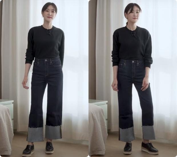 Nàng blogger Hàn tố cáo 4 loại quần jeans dễ dìm dáng chị em, hé lộ kiểu quần dễ mặc nịnh mắt nhất - Ảnh 12.