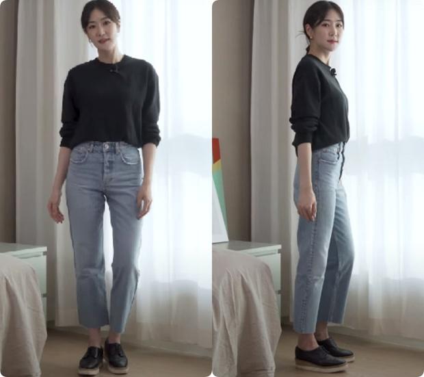 Nàng blogger Hàn tố cáo 4 loại quần jeans dễ dìm dáng chị em, hé lộ kiểu quần dễ mặc nịnh mắt nhất - Ảnh 4.