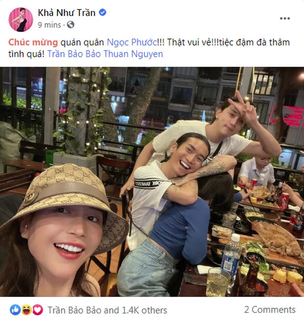BB Trần khoe hình đi ăn tiệc mừng giải Quán quân của Ngọc Phước nhưng lại không thấy nhân vật chính? - Ảnh 4.