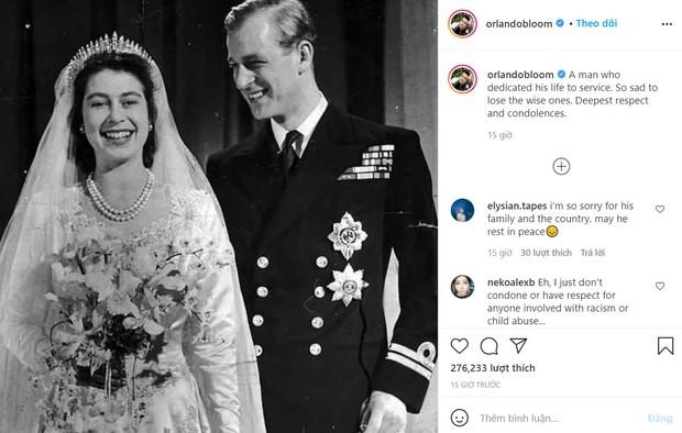 Cả dàn sao tiễn biệt Hoàng thân Philip: Orlando Bloom và tài tử Star Trek đau xót, gia đình Beckham lại bị chỉ trích kém duyên - Ảnh 9.