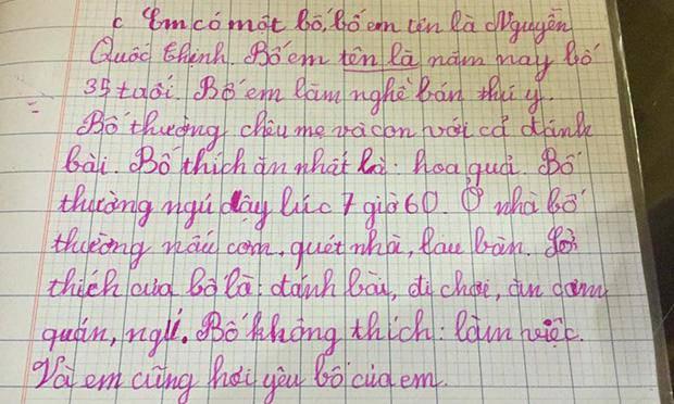 Bài văn tả bố của học sinh tiểu học: 10 câu thì 9 câu nói xấu, câu chốt cuối nghe mà não hết lòng - Ảnh 1.