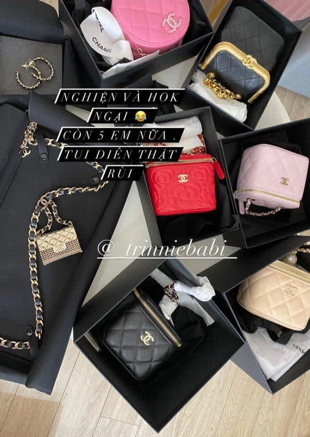 Rich kid Trinh Hoàng mua cả lố túi Chanel như gom hàng trăm rưỡi, trăm bảy trên mạng - Ảnh 1.