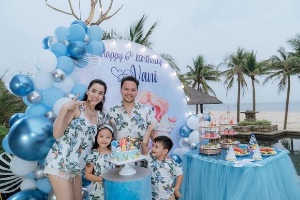 Hết 2 cháu gái thi Hoa hậu, đến con gái Trang Nhung mới 6 tuổi đã được chú ý nhờ nhan sắc gen trội trong tiệc sinh nhật - Ảnh 2.