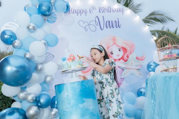 Hết 2 cháu gái thi Hoa hậu, đến con gái Trang Nhung mới 6 tuổi đã được chú ý nhờ nhan sắc gen trội trong tiệc sinh nhật - Ảnh 6.
