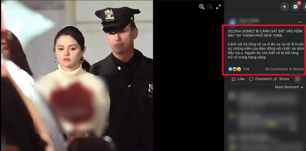 Facebook rầm rộ hình ảnh Selena Gomez bị bắt khẩn cấp với trang phục đầy máu, sự thật đằng sau gây phẫn nộ đỉnh điểm - Ảnh 2.
