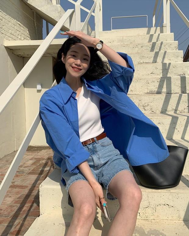 Mùa hè nóng nực, chị em nào muốn mặc quần short mà xinh như gái Hàn thì bơi vào đây! - Ảnh 5.