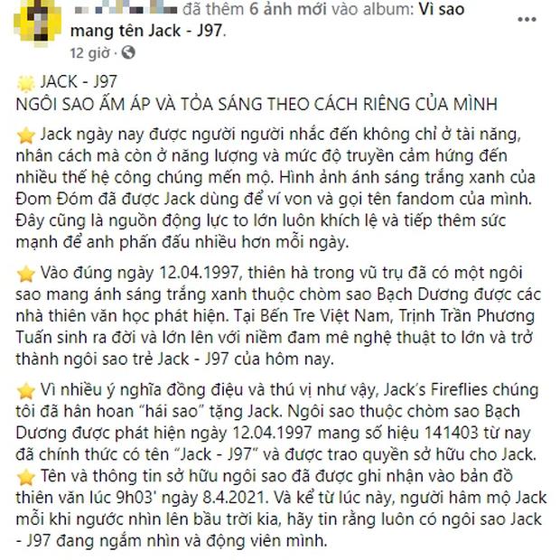 Jack bật khóc ngay tại buổi offline mừng sinh nhật, fan chi lớn mua cho thần tượng một ngôi sao đúng cung Hoàng đạo - Ảnh 1.
