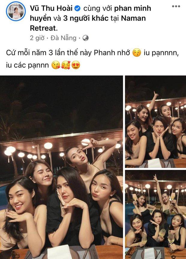 Hội bạn đình đám Hà Thành tụ họp: Nhan sắc mẹ bầu Phanh Lee vẫn không át được màn khoe ngực sexy của Huyền Lizzie - Ảnh 2.