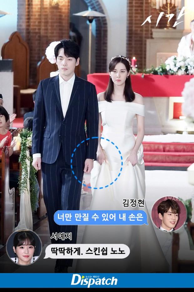Dispatch tiết lộ có 13 cảnh tình tứ bị cắt ở Time: Đến cả lễ cưới mà Kim Jung Hyun cũng không nắm tay Seohyun - Ảnh 7.