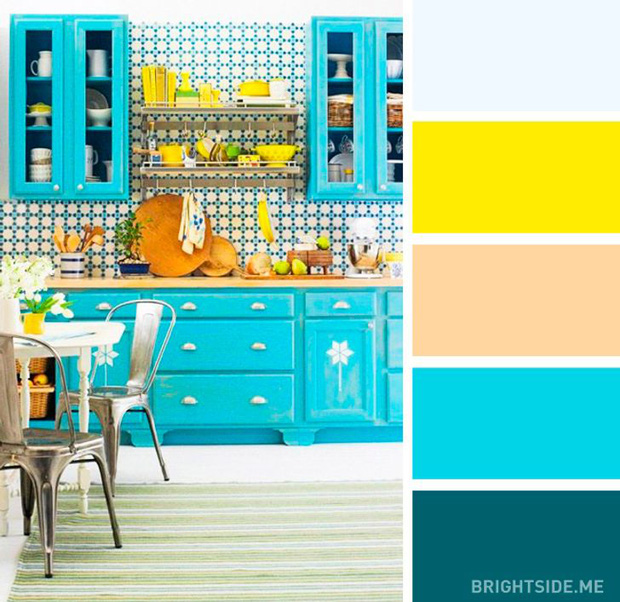20 sự kết hợp màu sắc đỉnh của chóp cho căn bếp thêm đẹp và sang - Ảnh 2.
