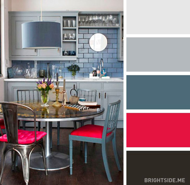 20 sự kết hợp màu sắc đỉnh của chóp cho căn bếp thêm đẹp và sang - Ảnh 7.