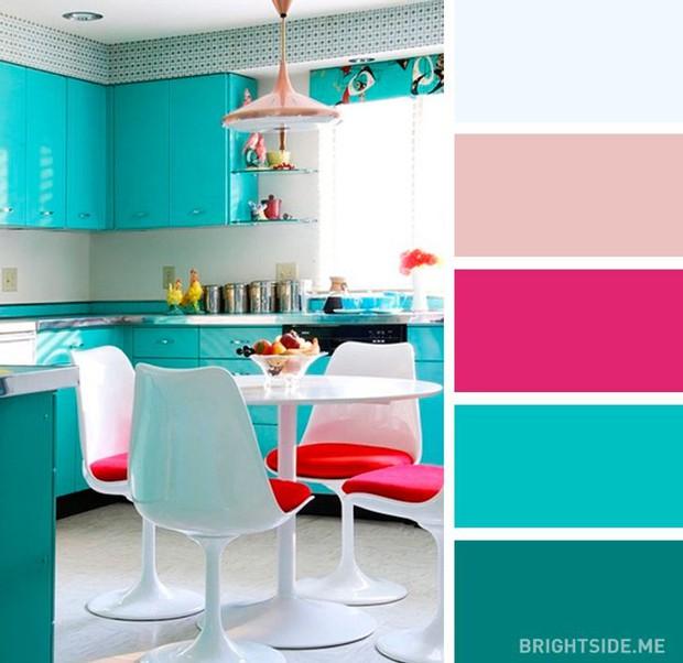 20 sự kết hợp màu sắc đỉnh của chóp cho căn bếp thêm đẹp và sang - Ảnh 8.