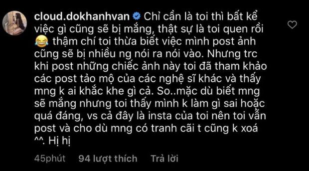 Gây tranh cãi vì loạt ảnh tạo dáng ở bia mộ người thân, Khánh Vân lên tiếng: Đã tham khảo ảnh nghệ sĩ đi tảo mộ - Ảnh 5.