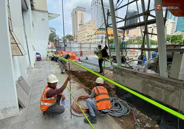 Một phần rào chắn Metro tại đất vàng trung tâm Sài Gòn được tháo dỡ, quán xá rục rịch khai trương trở lại - Ảnh 11.