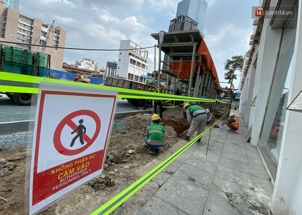 Một phần rào chắn Metro tại đất vàng trung tâm Sài Gòn được tháo dỡ, quán xá rục rịch khai trương trở lại - Ảnh 8.