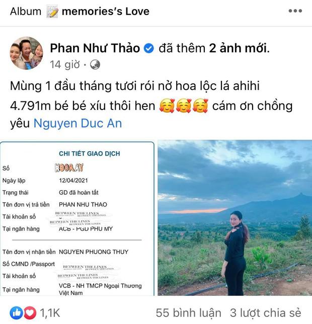 Sướng nhất Phan Như Thảo: Đang yên đang lành được chồng đại gia Đức An tặng mảnh đất gần 5000m2 - Ảnh 2.