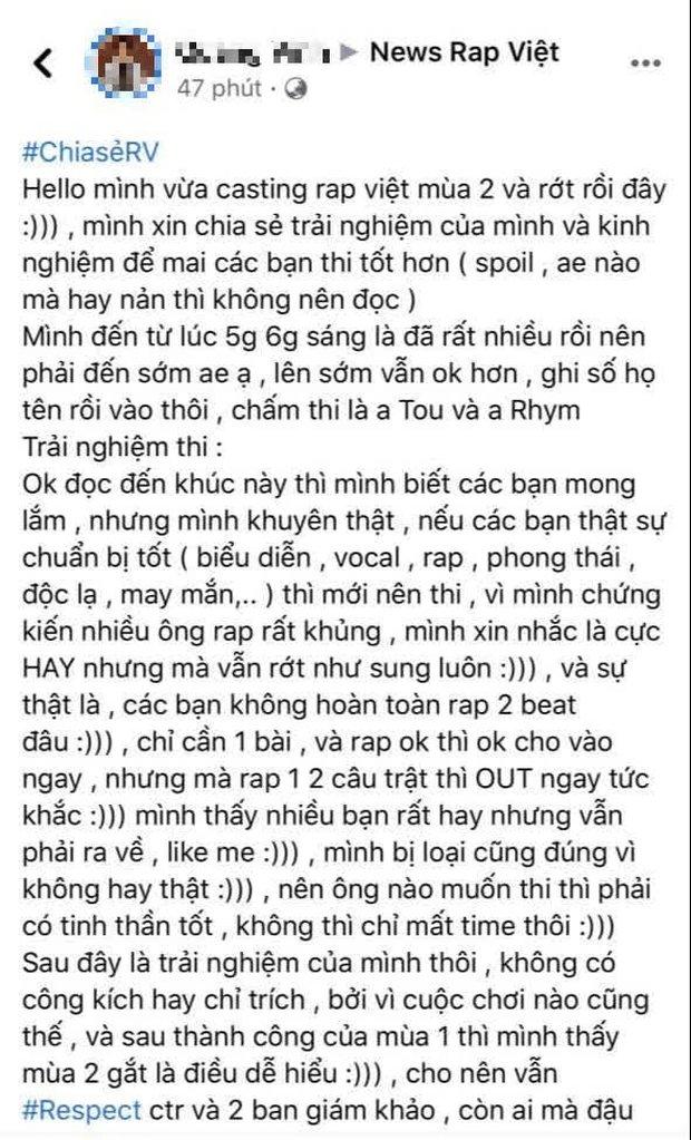 Review casting Rap Việt mùa 2 ngày đầu tiên: Rap cực hay vẫn bị rớt như sung, trật 1-2 câu là bị loại ngay lập tức? - Ảnh 1.