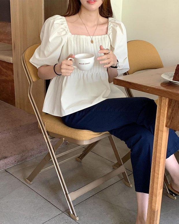 Có 1 mẫu áo mà dàn gái Hàn đang nâng như nâng trứng, diện lên đảm bảo có ảnh đẹp post Instagram sống ảo! - Ảnh 3.