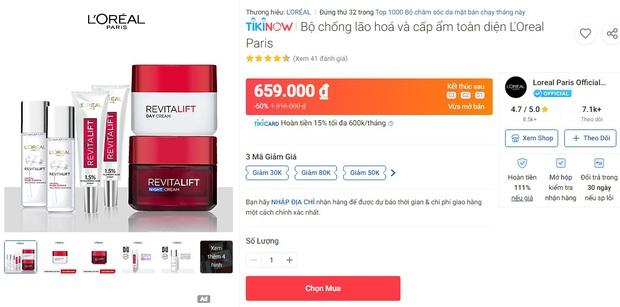 Deal mỹ phẩm hot nhất hôm nay trên Shopee, Lazada, Tiki: Set skincare sale 50%, mặt nạ mua 1 tặng 1 - Ảnh 12.