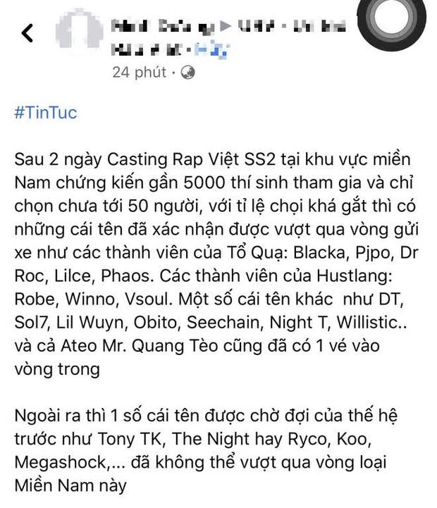 Lan truyền kết quả casting Rap Việt: Loạt tay to giới rap trượt thẳng cẳng, cặp đôi Simple Love vào vòng trong? - Ảnh 18.