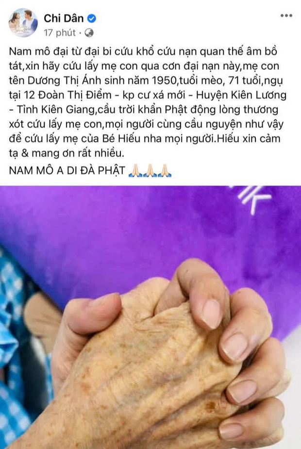 Ninh Dương Lan Ngọc có động thái gây chú ý giữa lúc mẹ Chi Dân nhập viện nguy kịch - Ảnh 4.