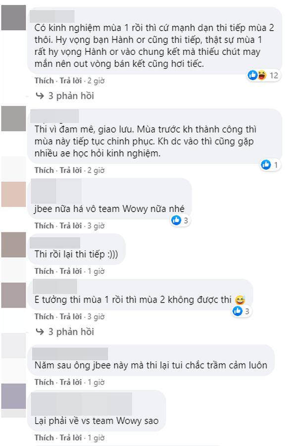 Học trò Wowy vào đến vòng 3 Rap Việt mùa 1 tiếp tục đăng kí casting mùa 2, tuyên bố chơi đến khi vô địch thì thôi - Ảnh 5.