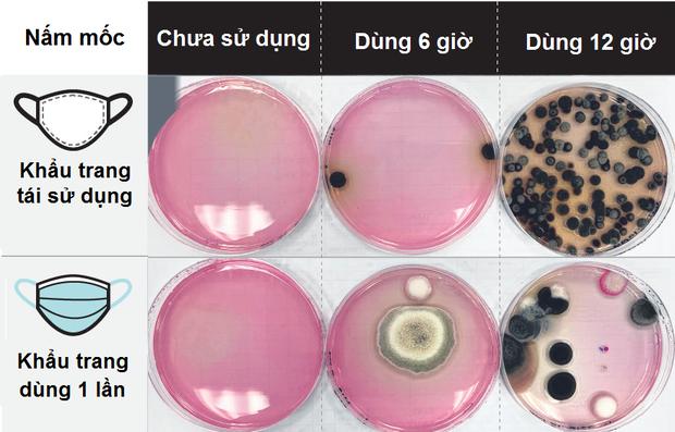 Khẩu trang  bẩn khủng khiếp sau 12 giờ sử dụng: Vi khuẩn, nấm mốc bu kín cho thấy dùng xong nên vứt đi luôn, không nên tiếc rẻ giữ lại - Ảnh 2.