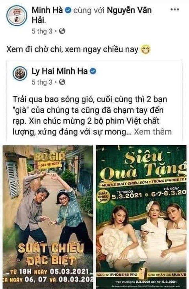 Lý Hải - Minh Hà PR cho Bố Già ngay khi ra mắt, còn Trấn Thành thì kêu gọi fan xem phim nước ngoài ngay khi Lật Mặt ra mắt - Ảnh 3.