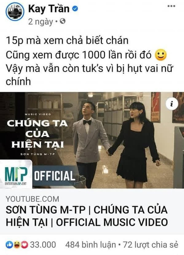 Sự nghiệp âm nhạc của Kay Trần khi về công ty Sơn Tùng: chụp choẹt vài tấm ảnh, dự sự kiện và share bài ủng hộ Sếp là chủ yếu - Ảnh 3.