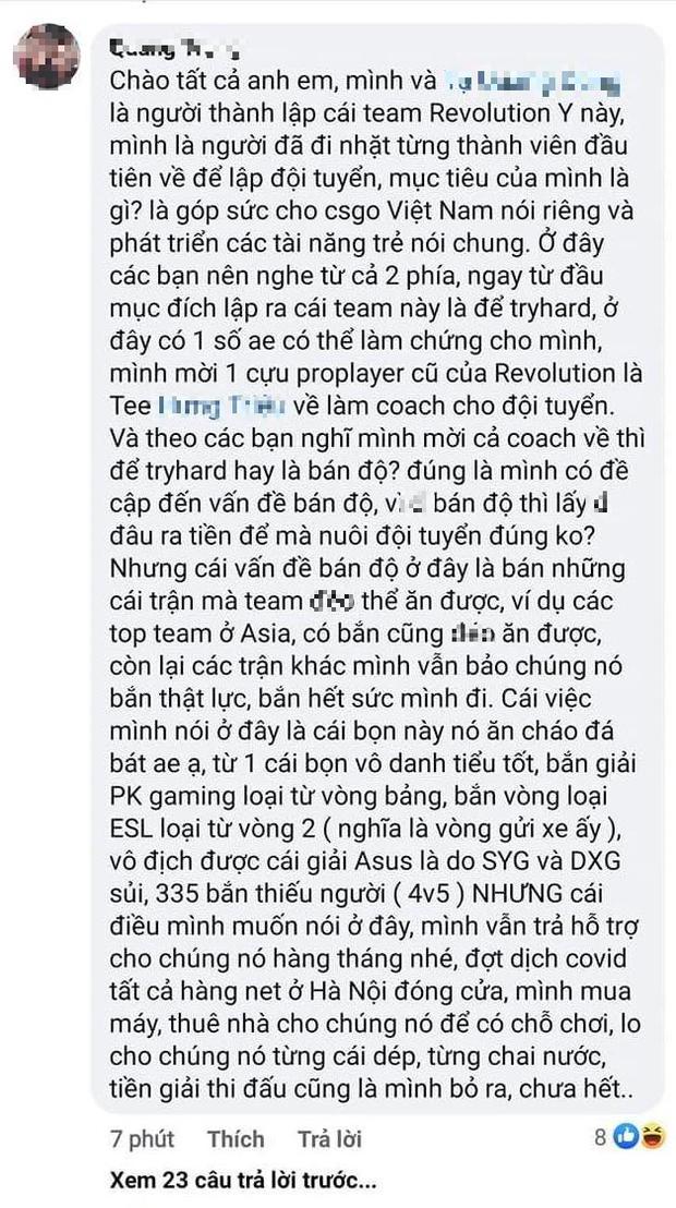Quản lý đội CS:GO số 1 Việt Nam khẳng định: Không bán độ lấy đâu ra tiền nuôi đội tuyển - Ảnh 3.