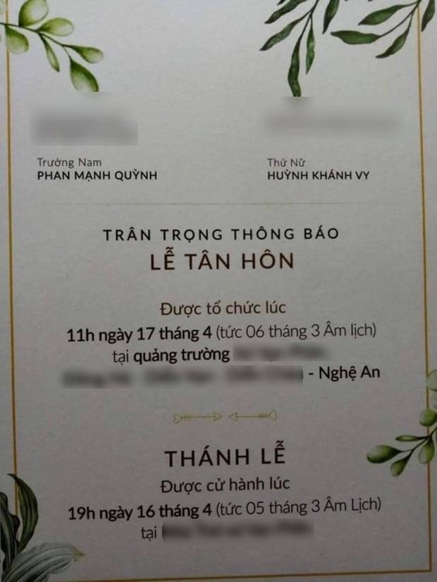 Lộ thiệp mời và hình ảnh lễ đường trước thềm hôn lễ của Phan Mạnh Quỳnh tại Nghệ An, nhìn qua đã biết là hoành tráng không vừa - Ảnh 3.