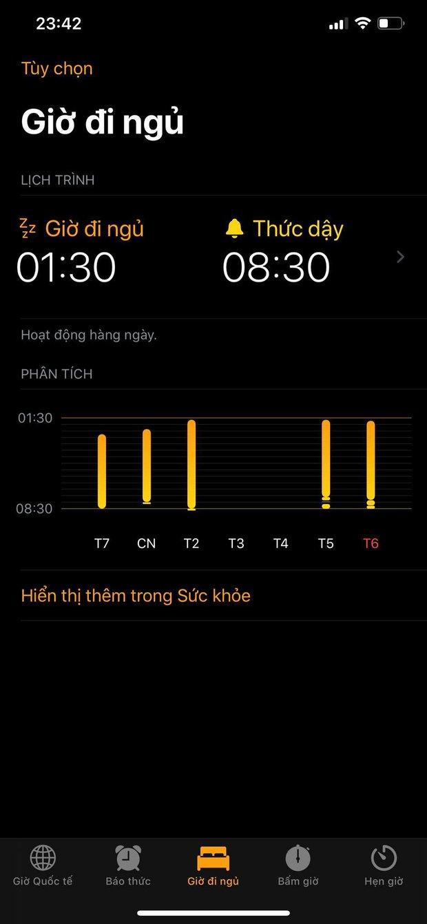 Cần gì crush, iPhone sẽ nhắc bạn đi ngủ và gọi bạn dậy cực kỳ đúng giờ - Ảnh 1.