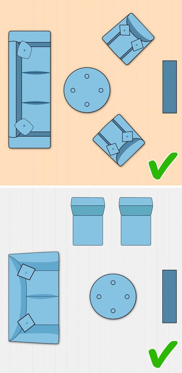 7 cách sắp xếp nội thất phòng khách siêu đỉnh, nhìn vào là biết gia chủ có gu thẩm mỹ - Ảnh 4.