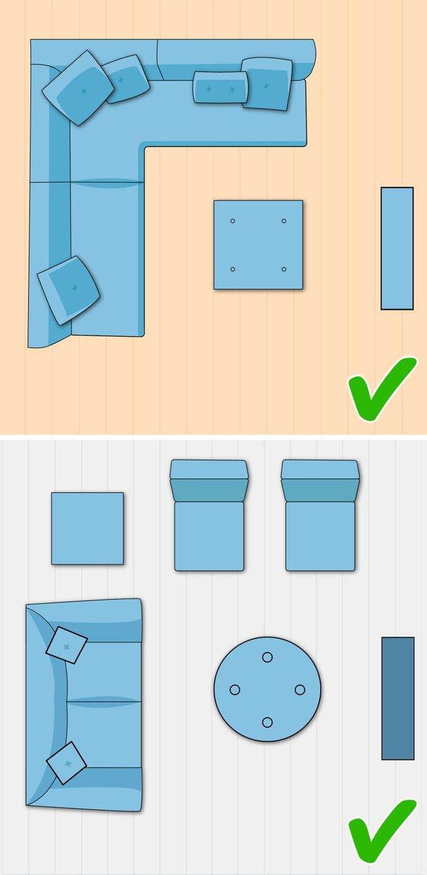 7 cách sắp xếp nội thất phòng khách siêu đỉnh, nhìn vào là biết gia chủ có gu thẩm mỹ - Ảnh 5.