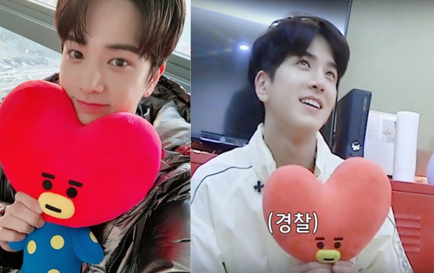 Kpop có chàng idol mê V (BTS) như điếu đổ: Vỡ oà sung sướng khi gặp mặt, giữ món quà được tặng như báu vật - Ảnh 2.