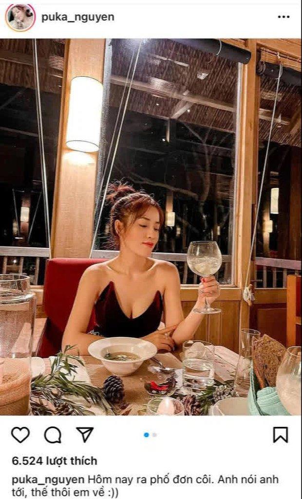Puka và Gin Tuấn Kiệt bị soi hint hẹn hò: Nàng đăng ảnh ăn tối đơn côi nhưng chàng lộ luôn bằng chứng rõ ràng - Ảnh 2.