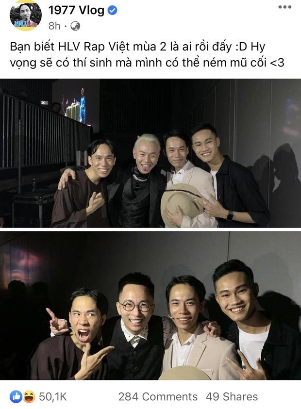Xuất hiện 3 nhân vật tự nhận HLV Rap Việt mùa 2, còn đòi thay hẳn nón vàng! - Ảnh 1.