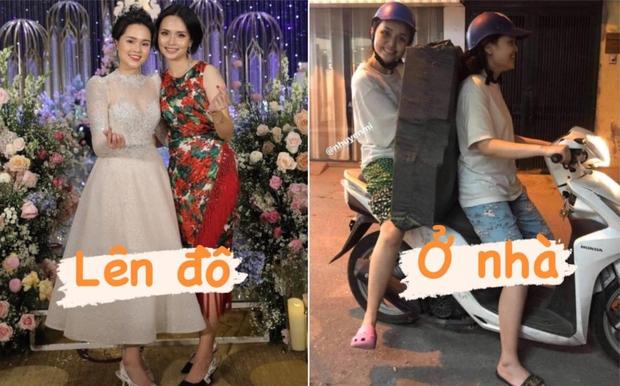 Chị em Quỳnh Anh - Huyền Mi kéo dài series biến hình: Lên đồ lung linh bao nhiêu, ở nhà xuề xoà bấy nhiêu - Ảnh 1.
